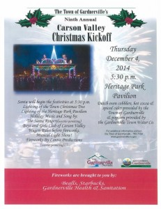 Gardnerville Christmas Kickoff December 4th