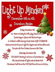 Minden Festivities December 5th & 6th