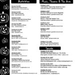 Special Events Happening in October