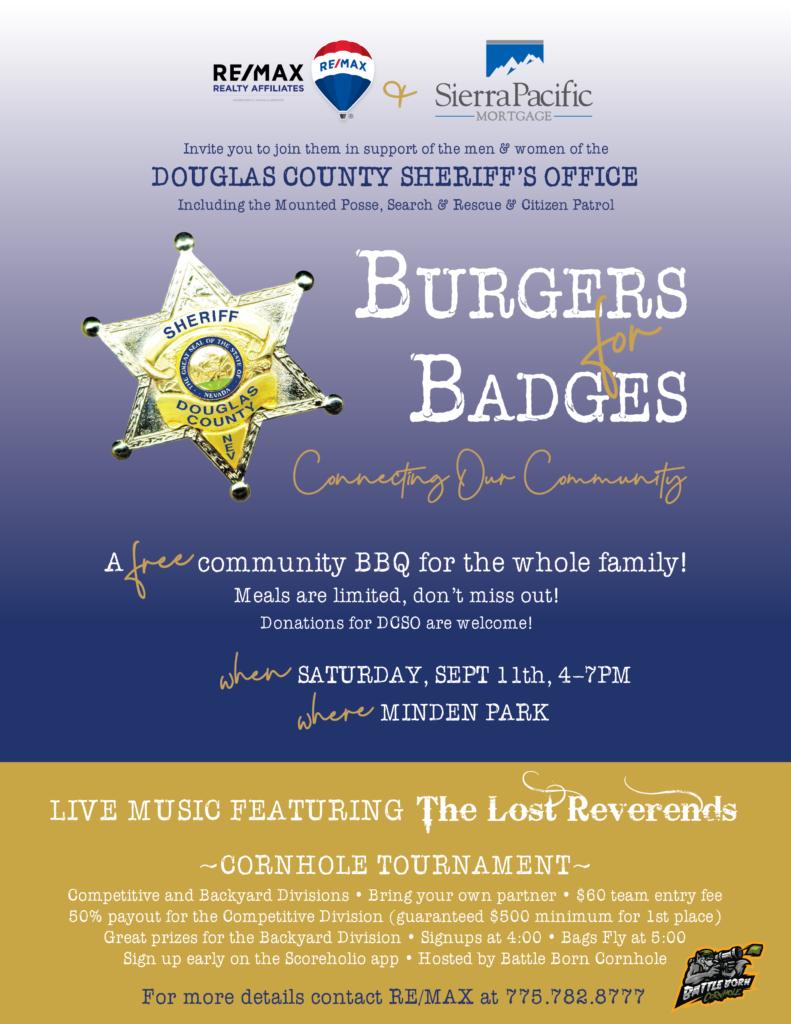 Burgers for Badges 2021 flyer